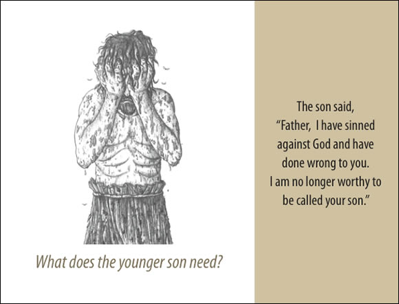 The Father's Love Gospel Booklet in the language of honor and shame, p10