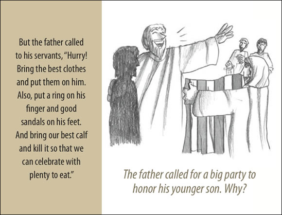 The Father's Love Gospel Booklet in the language of honor and shame, p11