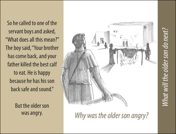 The Father's Love Gospel Booklet in the language of honor and shame, p13