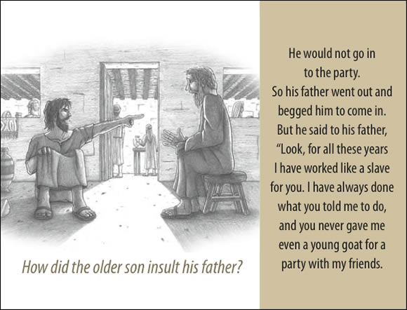 The Father's Love Gospel Booklet in the language of honor and shame, p14