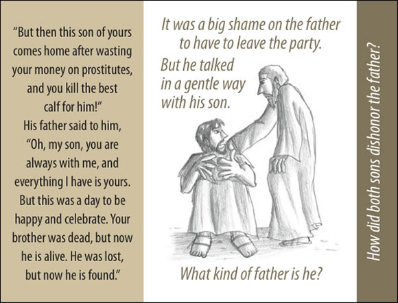 The Father's Love Gospel Booklet in the language of honor and shame, p15