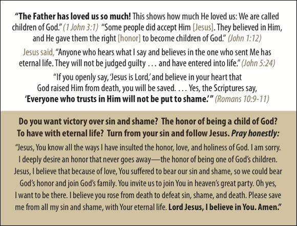 The Father's Love Gospel Booklet in the language of honor and shame, Prodigal Son, p19
