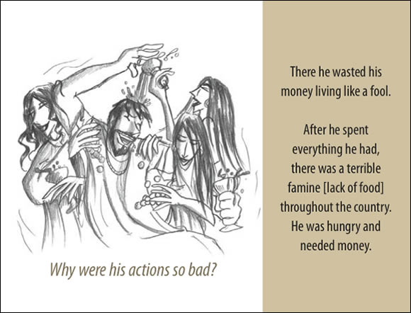 The Father's Love Gospel Booklet in the language of honor and shame, p4