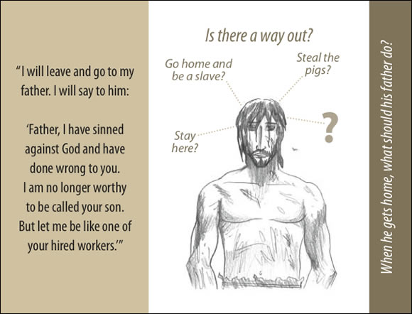 The Father's Love Gospel Booklet in the language of honor and shame, p7