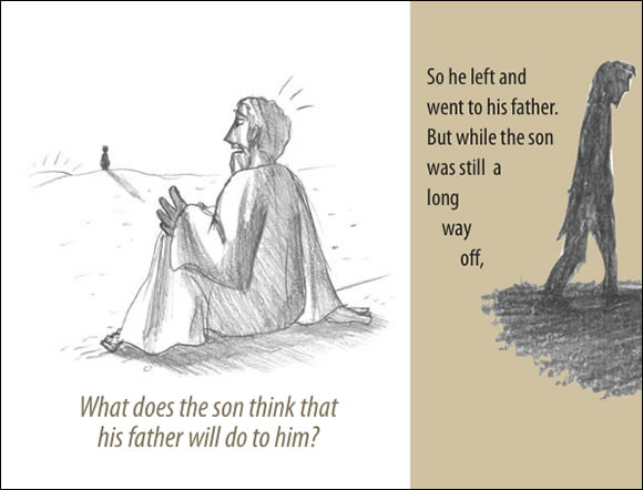 The Father's Love Gospel Booklet in the language of honor and shame, p8
