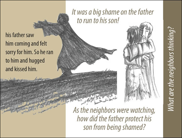 The Father's Love Gospel Booklet in the language of honor and shame, p9